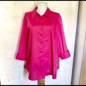 Foxcroft Pink Wrinkle Free Plus Blouse